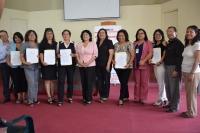 TRABAJADORES DE LA UGEL N° 04  PARTICIPARON CON RESPONSABILIDAD EN EL IV SIMULACRO NACIONAL 2014